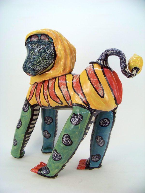 Baboon sculpture