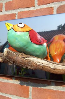 Birds wall sculpture